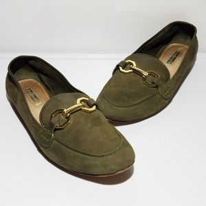 LOUISE ET CIE Womens 'Faunia' Green Loafer 8.5